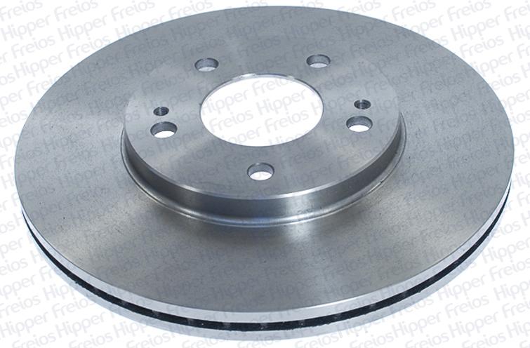 Disco de Freio Hipper Freios (HF) - Eixo Dianteiro - MITSUBISHI Pajero IO 4x4 / Pajero TR4 2.0 16V - HF200E (Ventilado e Sem Cubo)