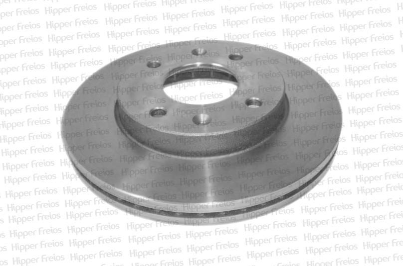 Disco de Freio Hipper Freios (HF) - Eixo Dianteiro - KIA Cerato 1.6 16V / HYUNDAI Elantra 2.0 / Sonata 2.7 - HF358A (Ventilado e Sem Cubo)