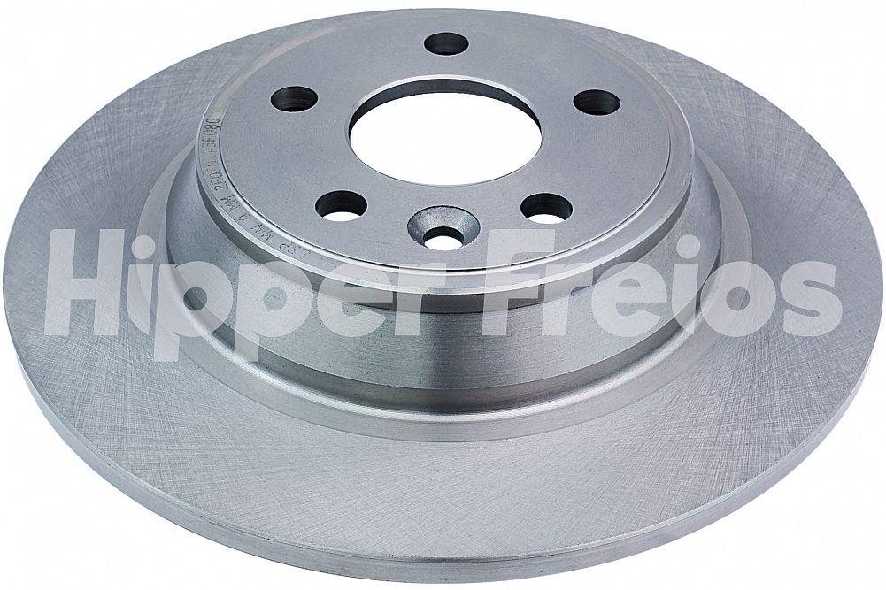 Par de Discos de Freio Hipper Freios (HF) - Eixo Traseiro - FORD Fusion / LAND ROVER Range Rover Evoque - HF15J (Sólido e Sem Cubo)