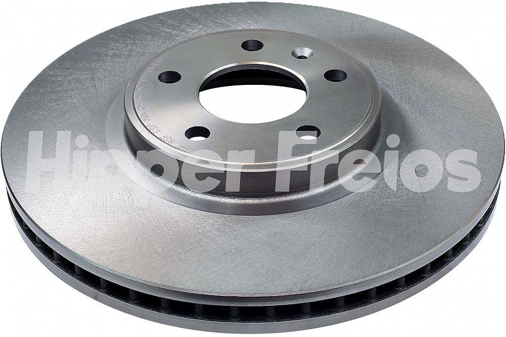 Disco de Freio Hipper Freios (HF) - Eixo Dianteiro - AUDI A4 / A5 / A6 / A7 / Q5 / S4 / S5 - HF85F (Ventilado e Sem Cubo)