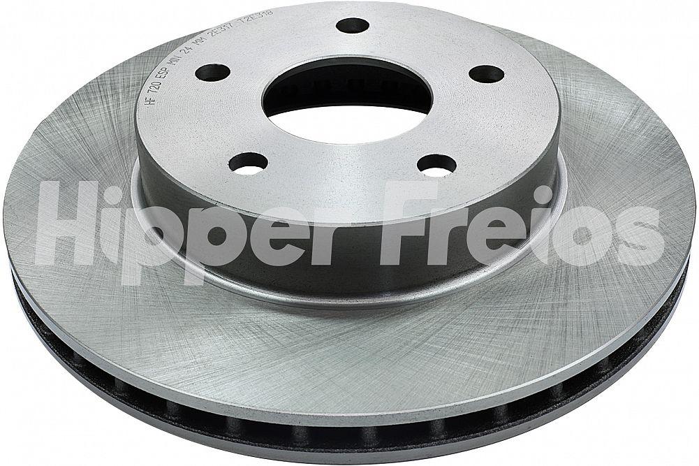 Par de Discos de Freio Hipper Freios (HF) - Eixo Dianteiro - CHRYSLER Cherokee / Gran Cherokee - HF720 (Ventilado e Sem Cubo)