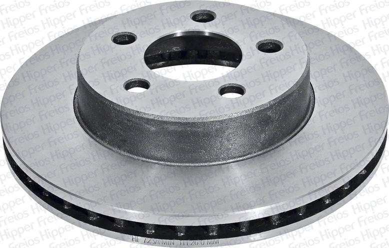 Par de Discos de Freio Hipper Freios (HF) - Eixo Dianteiro - JEEP Cherokee / Wrangler - HF723A (Ventilado e Sem Cubo)