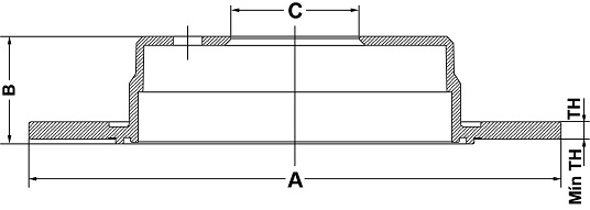 Par de Discos de Freio FREMAX - Eixo Traseiro - GM Astra / Vectra - BD9041 (Sólido e Sem Cubo)