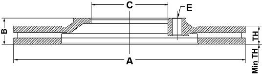 Par de Discos de Freio FREMAX - Eixo Traseiro - JAGUAR S-Type - BD4089 (Ventilado e Sem Cubo)