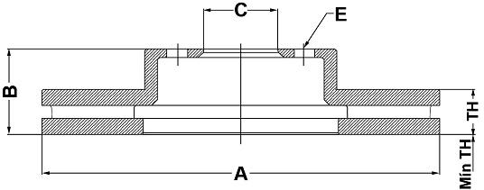 Par de Discos de Freio FREMAX - Eixo Dianteiro - FORD Fusion / Fusion Hybrid - BD7338 (Ventilado e Sem Cubo)