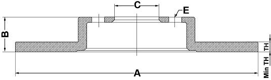 Par de Discos de Freio FREMAX - Eixo Traseiro - AUDI 100 / A6 / A6 Avant / VOLKSWAGEN Passat / Passat Variant - BD4060 (Sólido e Sem Cubo)