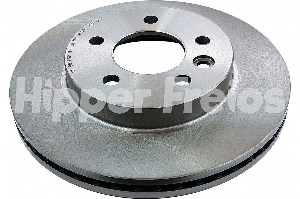 Par de Discos de Freio Hipper Freios (HF) - Eixo Dianteiro - VOLKSWAGEN Amarok - HF90 (Ventilado e Sem Cubo)