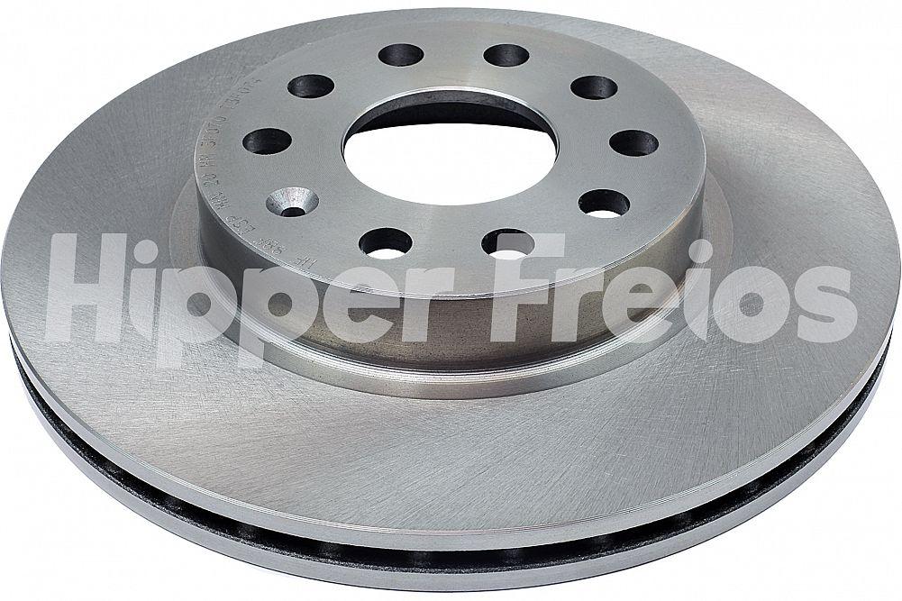 Disco de Freio Hipper Freios (HF) - Eixo Dianteiro - AUDI A3 / VOLKSWAGEN Jetta - HF88F (Ventilado e Sem Cubo)