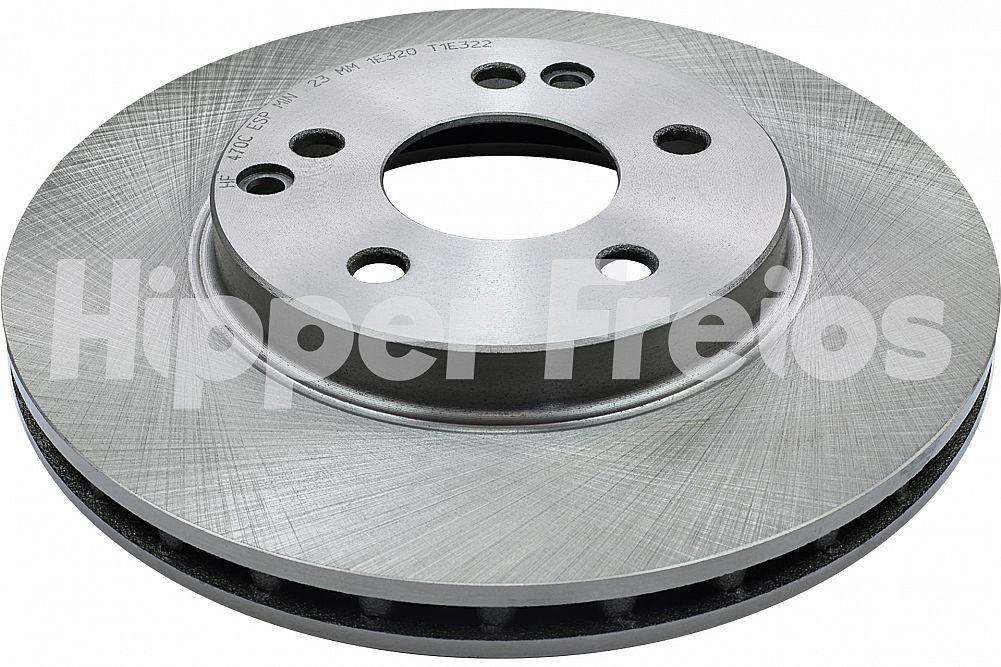 Disco de Freio (HF) - Eixo Dianteiro - MERCEDES-BENZ 200 / 230 / C180 / C200 / C220 / C230 / C280 / E200 / E230 / E240 - HF470C  (Ventilado e Sem Cubo)