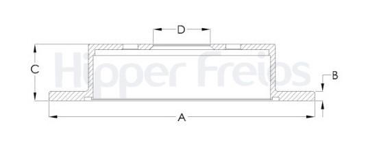Par de Discos de Freio Hipper Freios (HF) - Eixo Traseiro - HYUNDAI Tucson / I30 / IX35 / KIA Sportage - HF325P (Sólido e Sem Cubo)