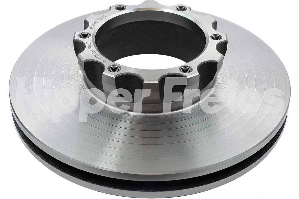 Disco de Freio Hipper Freios (HF) - Eixo Dianteiro - MB 712C / 812 / 814 / 912C / 914C / LO914 / LO915 - HF472B (Ventilado e Sem Cubo)