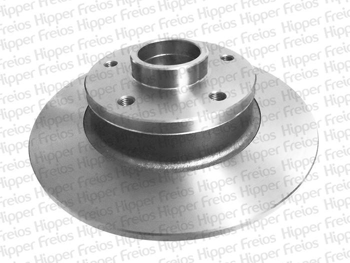 Par de Discos de Freio Hipper Freios (HF) - Eixo Traseiro - RENAULT Fluence - HF571C (Sólido e Com Cubo)