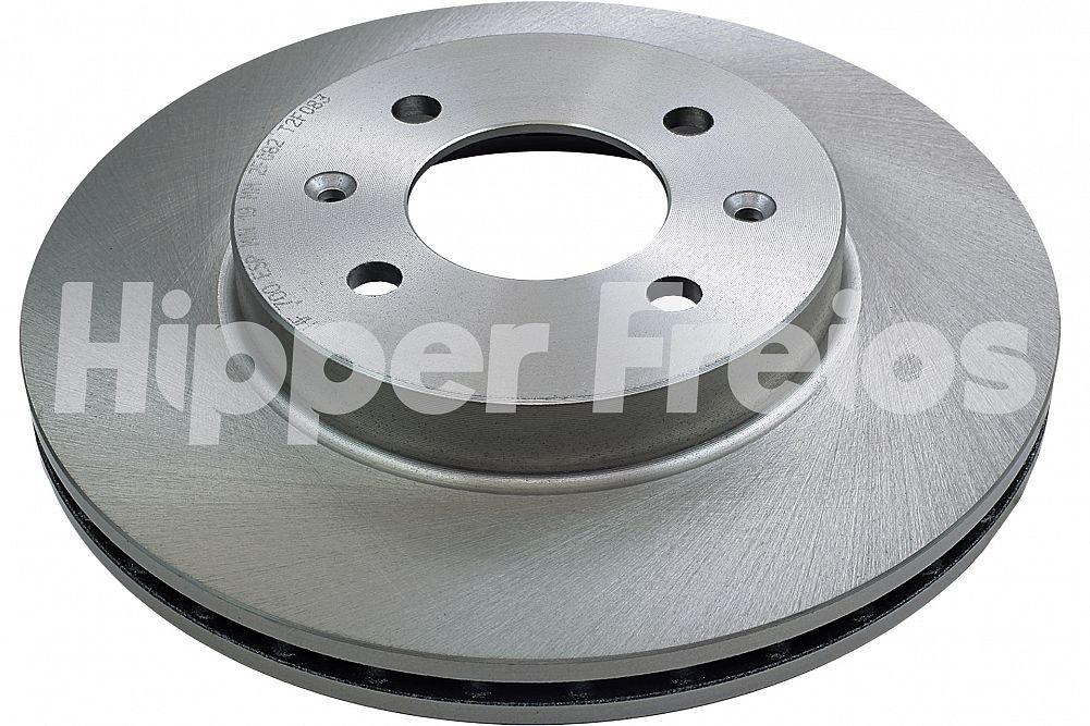 Disco de Freio Hipper Freios (HF) - Eixo Dianteiro - ACURA Integra - HONDA City / Civic / Fit - HF700 (Ventilado e Sem Cubo)