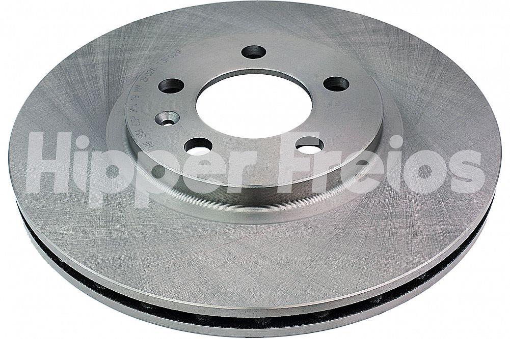 Disco de Freio Hipper Freios (HF) - Eixo Dianteiro - VW Crossfox / Fox / Spacecross / Spacefox - HF81A (Ventilado e Sem Cubo)
