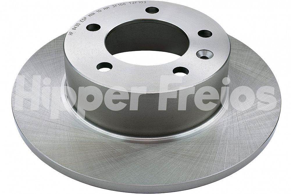 Disco de Freio Hipper Freios (HF) - Eixo Traseiro - RENAULT Master / NISSAN NV400 - HF843D (Sólido e Sem Cubo)