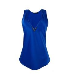 ab363f029 ... Ombro Listrada Azul Chocoleite. Chocoleite. 2 opções. Produto  Indisponível. Blusa Regata Cetim Metal Azul C. Club
