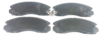 Pastilha de Freio Willtec - CHRYSLER Talon / MITSUBISHI L200 / Diamante / Eclipse /  Galant / Montero / Outlander / Pajero / Sigma / Space - Dianteiro - PW383P
