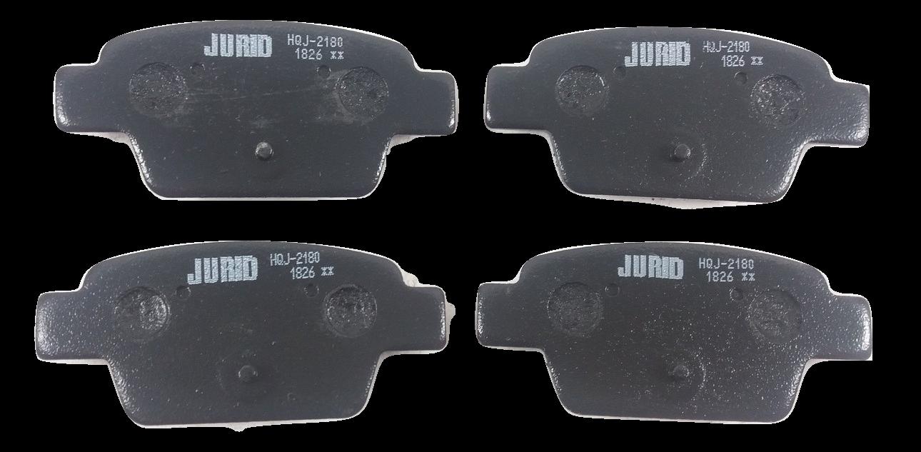 Pastilha de Freio JURID - Eixo Traseiro - FIAT Bravo / Linea / Stilo - (HQJ2180)