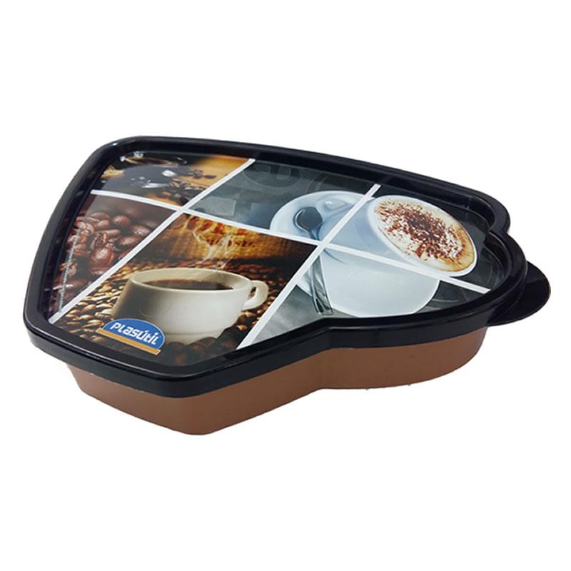 Porta Guarda Filtro para Café 850ML Plasútil Decora - 4397 - 4397-MT-01