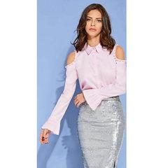 f0e6020d2 Chocoleite. Camisa Recorte Ombro Detalhe Pérolas Rosa Chocoleite. Produto  Indisponível. Chocoleite. Blusa Um Ombro Listrado Azul Chocoleite
