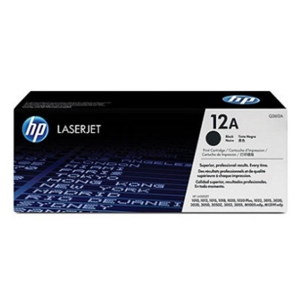 Toner HP 12 Preto Original - Q2612A