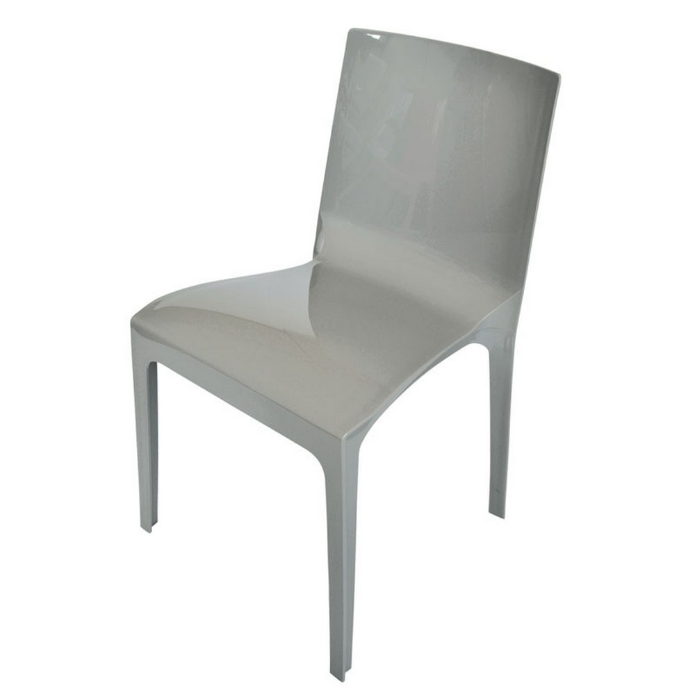 Cadeira Fixa de Plástico - Cinza - Taurus Fendi - Plasútil - 6709