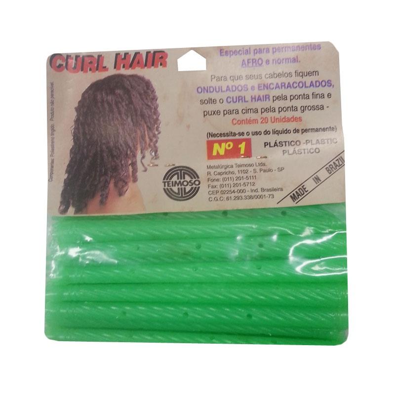 Curlers Hair Plástico com 20 Unidades Teimoso