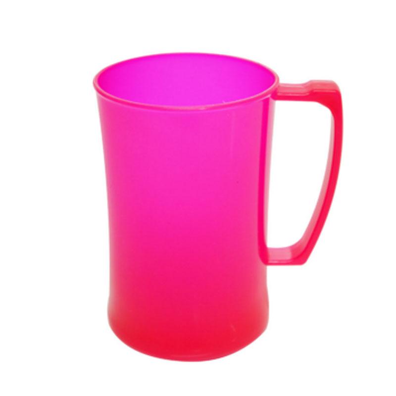 Caneca Plástico Neon 440ML Plasútil Rosa - 4478 - 4478 - ROSA-MT-01