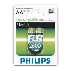 Pilha Recarregável AA 2600MAH Philips - R6B2A260/97 - Blister com 2 Unidades