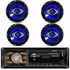 Rádio Automotivo Hurricane 4x18W com 4 Alto Falantes 6 Polegadas - Kit Prático 2