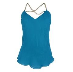 df296e33f Blusa Lisa Verde com Corrente Calf